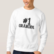 #1 Number One Grandpa Embroidery Embroidered Sweatshirt