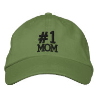 #1 Number One MOM Embroidered Cap Baseball Cap