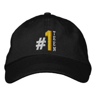 #1 Number One TEEN BLACK Hat V03