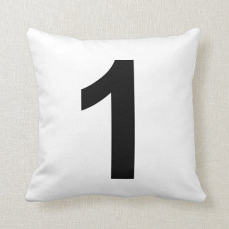 1	number one throw pillow