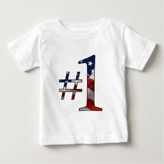 #1 (número 1) playera de bebé