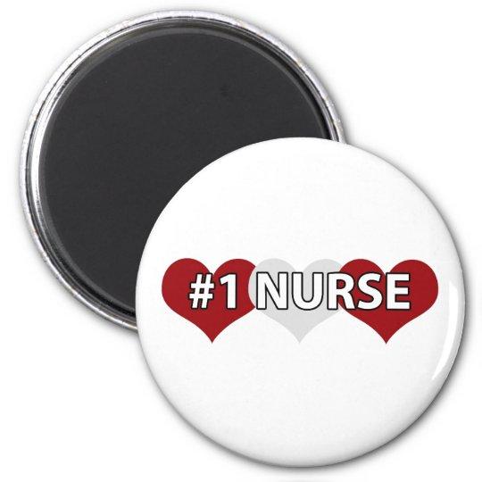 #1 Nurse 2 Inch Round Magnet