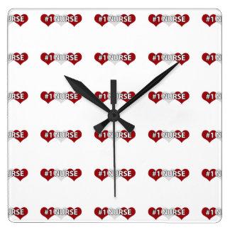 #1 Nurse Square Wall Clock