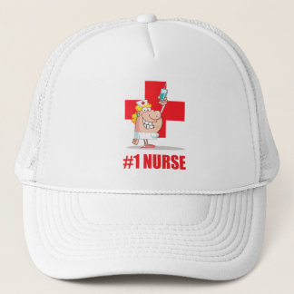 #1 Nurse Trucker Hat
