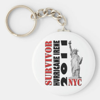 #1 NYC Survived Hurricane Irene Basic Round Button Keychain