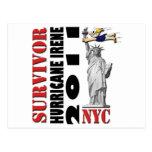 #1 NYC Survived Hurricane Irene Postcard