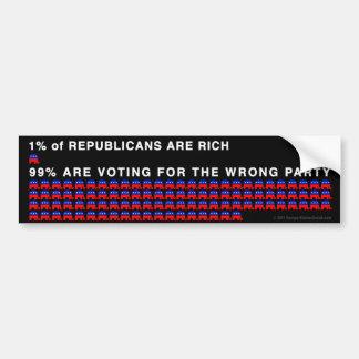 1% of Republicans Car Bumper Sticker