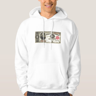 $1 Old School One Dollar Bill Hooded Pullovers