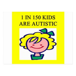 1 on 150 kids is autistics postcard