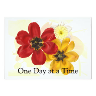 1 One Day at a Time 5x7 Paper Invitation Card
