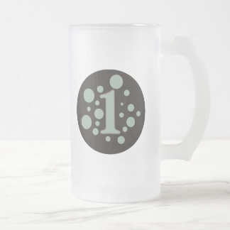 1-One Frosted Glass Beer Mug