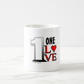 1 (one) Love Classic White Coffee Mug