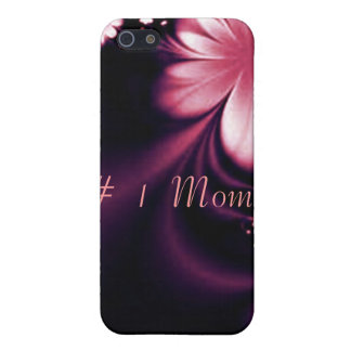#1 one Mom pink flower I phone 4 speck case iPhone 5 Case