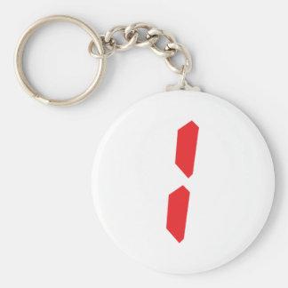 1 one red alarm clock digital basic round button keychain