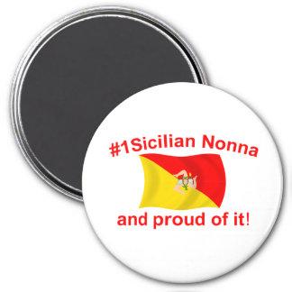 #1 orgulloso Nonna siciliano Imán Redondo 7 Cm