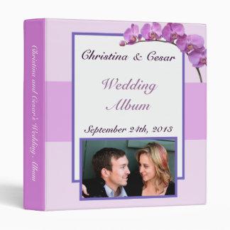 """1"""" orquídeas púrpuras del libro de recuerdos de la"""