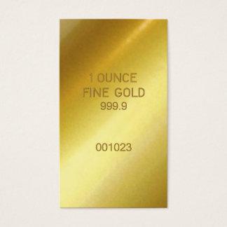 1 Ounce Fine Gold Business Card
