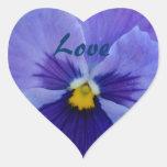 1 Pansy Blue Beauty Sticker