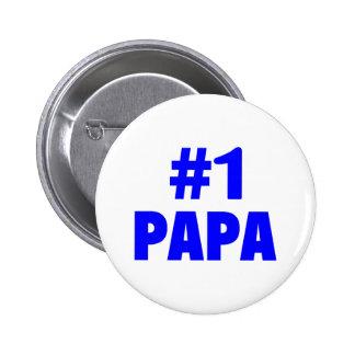 1 Papa Blue Pinback Buttons