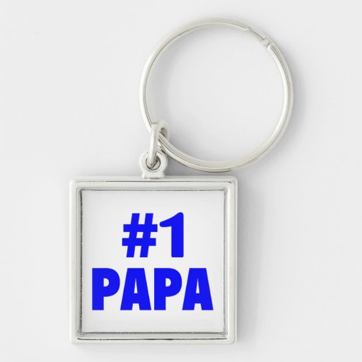 #1 Papa (Blue) Key Chains