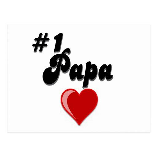 #1 Papa - Celebrate Grandparent's Day Postcard