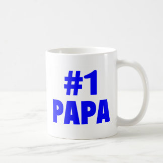#1 Papa Classic White Coffee Mug