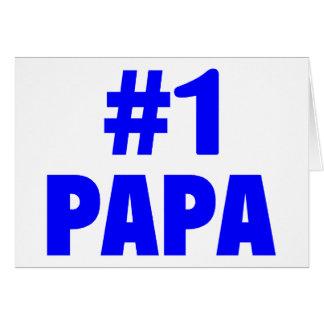 #1 Papa Greeting Card