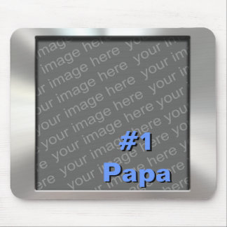 #1 Papa Metal Photo Mousepad