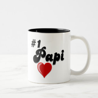 #1 Papi - Celebrate Grandparent's Day Two-Tone Coffee Mug