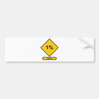 1 Percent Ahead Car Bumper Sticker