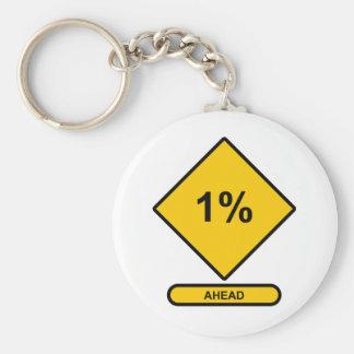 1 Percent Ahead Keychain