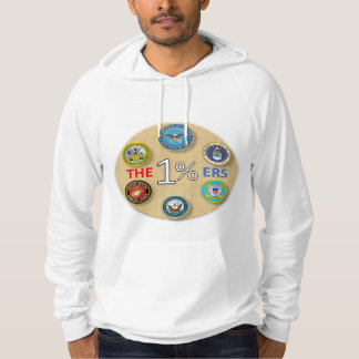 1 Percent Military Branches Hoodie