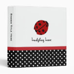 "1"" Personalized Ladybug Love Binder"