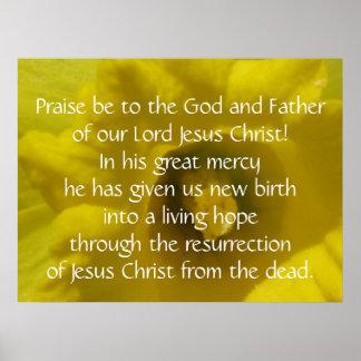 1 Peter 1:3 Poster