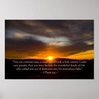 1 Peter 2:9 Poster print