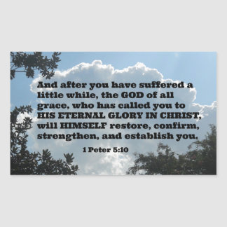 1 Peter 5:10 And after you have suffered a little Rectangular Sticker