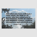 1 Peter 5:10 And after you have suffered a little Sticker