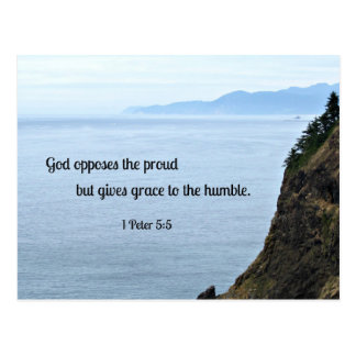 1 Peter 5:5 God opposes the proud, but gives grace Postcard