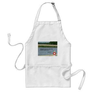 1 Peter 5:7 Casting all your care upon Him... Adult Apron