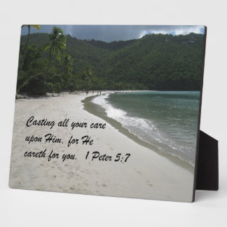 1 Peter 5:7 Casting all your care upon Him... Plaque