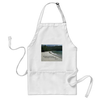 1 Peter 5:7 Give all your worries and cares to God Adult Apron