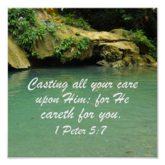 1 Peter 5:7 Print