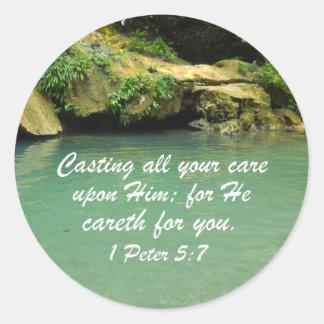 1 Peter 5:7 Sticker