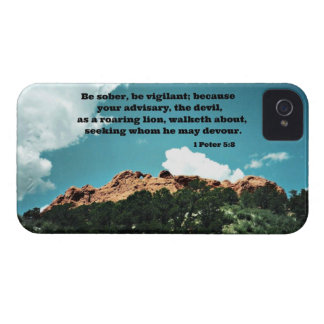 1 Peter 5 8 Be sober be vigilant because iPhone 4 Covers
