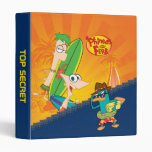 "1"" Phineas and Ferb Surfing Vinyl Binder"