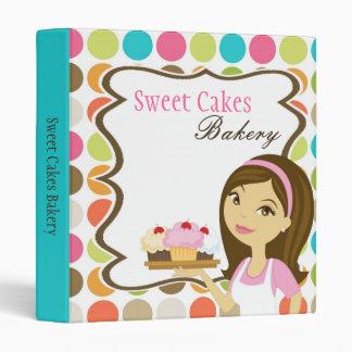 "1"" Photo Binder Presentation Bakery Brunette Baker"