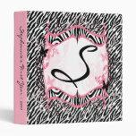 "1"" Photo Binder Scrapbook Butterfly Zebra Print"