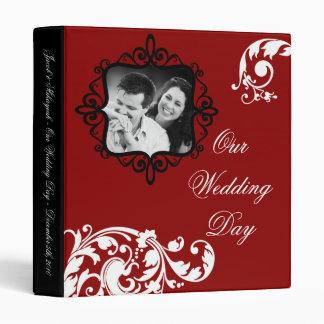 "1"" Photo Binder Scrapbook Crimson Red Floral"
