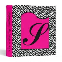 "1"" Photo Binder Scrapbook Hot Pink Zebra Print"