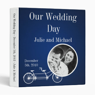 "1"" Photo Binder Scrapbook Navy Blue Double Bike"